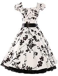 GRACE KARIN® 50s Vintage Rockabilly Kleid Partykleider Petticoat Kleid CL4598