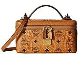 MCM Damen Rockstar Vanity Case Visetos Original Cognac