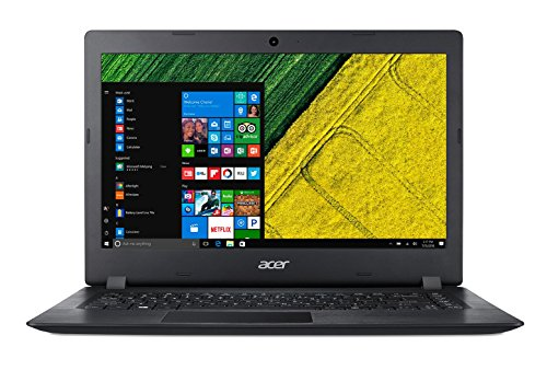 Acer A114-31-C3MM Aspire 1 - Ordenador portátil de 14' HD (Intel Celeron N3350, 4 GB de RAM, 32 GB eMMC, Intel HD Graphics, Windows 10S) negro - Teclado QWERTY Español