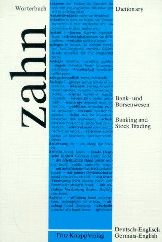 dictionary-of-banking-and-stock-trading-german-english-worterbuch-fru-das-bank-und-borsenwesen-teil-