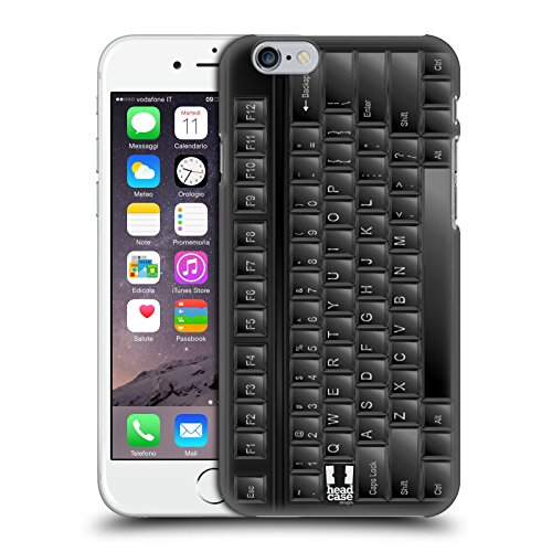 Head Case Designs Klavier Schlüssel Ruckseite Hülle für Apple iPhone 5 / 5s / SE Pc Keyboard