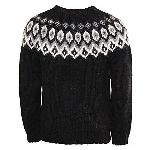 ICEWEAR Ragnar Pulli aus 100 % isländischer Wolle mit rundem Halsausschnitt Black