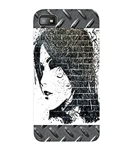 ColourCraft Beautiful Girl Drawing Design Back Case Cover for BLACKBERRY Z10