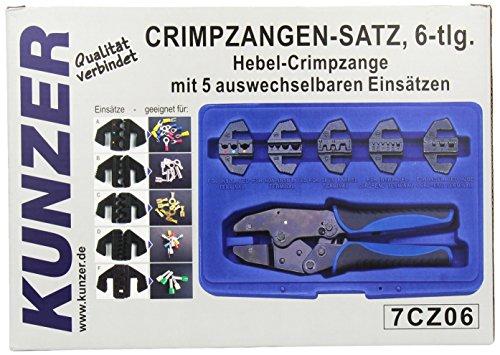 Preisvergleich Produktbild Kunzer 7CZ06 Hebelcrimpzange, 6-Teilig mit 5 Auswechselbaren Einsätzen