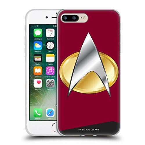 Offizielle Star Trek Captain Uniformen Und Plaketten TNG Soft Gel Hülle für Apple iPhone 6 / 6s Befehl