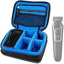 DURAGADGET Bolsa acolchada profesional negra con compartimentos para maquinilla de afeitar / corta pelo Philips MG3730/15 / Braun Silk-expert IPL BD 3005 / Braun Silk-épil 7 7-539 / Philips QG3398/15 Serie 7000 PRO / Philips S9551/63