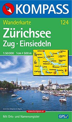 Zürichsee - Zug - Einsiedeln: Wanderkarte mit Orts- und Namensregister. GPS-geeignet. 1:50000