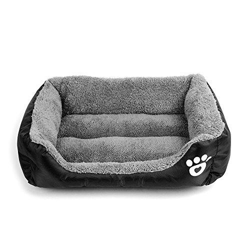 Cuccia per gatti e cani di taglia piccola/media/grande, rettangolare, imbottita e ultra morbida, lavabile in lavatrice