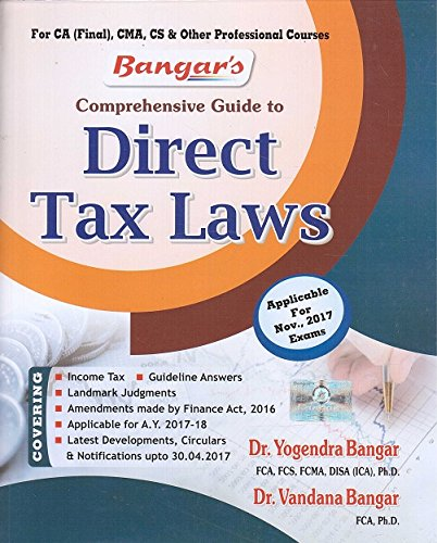 Comprehensive Guide to Direct Tax Laws for CA Final November 2017 Exam