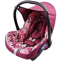 BAMBINIWELT Ersatzbezug für Maxi-Cosi CabrioFix 6-tlg., Bezug für Babyschale, Komplett-Set PINK ROSA BLUMEN *NEU*