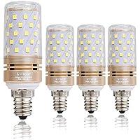 E14 LED Bulbs 12W, 100W Bombillas incandescentes Equivalente, 6000K Luz blancaCandelabra E14 SES Bulbos