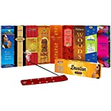 SLM CLASSIC COLLECTION Incense Sticks Combo Pack Of 9 - Paradise, Black King, Gold Coin, Sandal,Rose, Woods, Elegance, Amber, Magical Feather TOTAL= 144 Sticks + 1 Wooden Stand + Devotion Florabatti 10 Sticks(FREE)