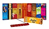 #2: SLM CLASSIC COLLECTION Incense sticks Combo Pack of 9 - Paradise, Black king, Gold Coin, Sandal,Rose, Woods, Elegance, Amber, Magical Feather TOTAL= 144 Sticks + 1 wooden stand + Devotion Florabatti 10 Sticks(FREE)