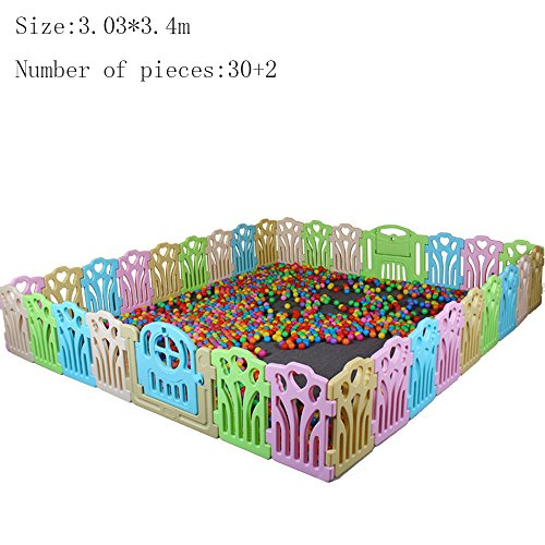 Bed Rails XIAOLIN Guardrail Learning Walking Fence Playpens Crawling Fence Indoor Toys Environmental Protection (Size : 3.03 * 3.4cm)  XIAOLIN