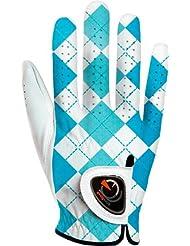 Easy Glove Spring_checkerd-Blue-w-r Gant de Golf Femme