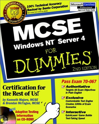 MCSE Windows NT Server 4 For Dummies por Ken Majors