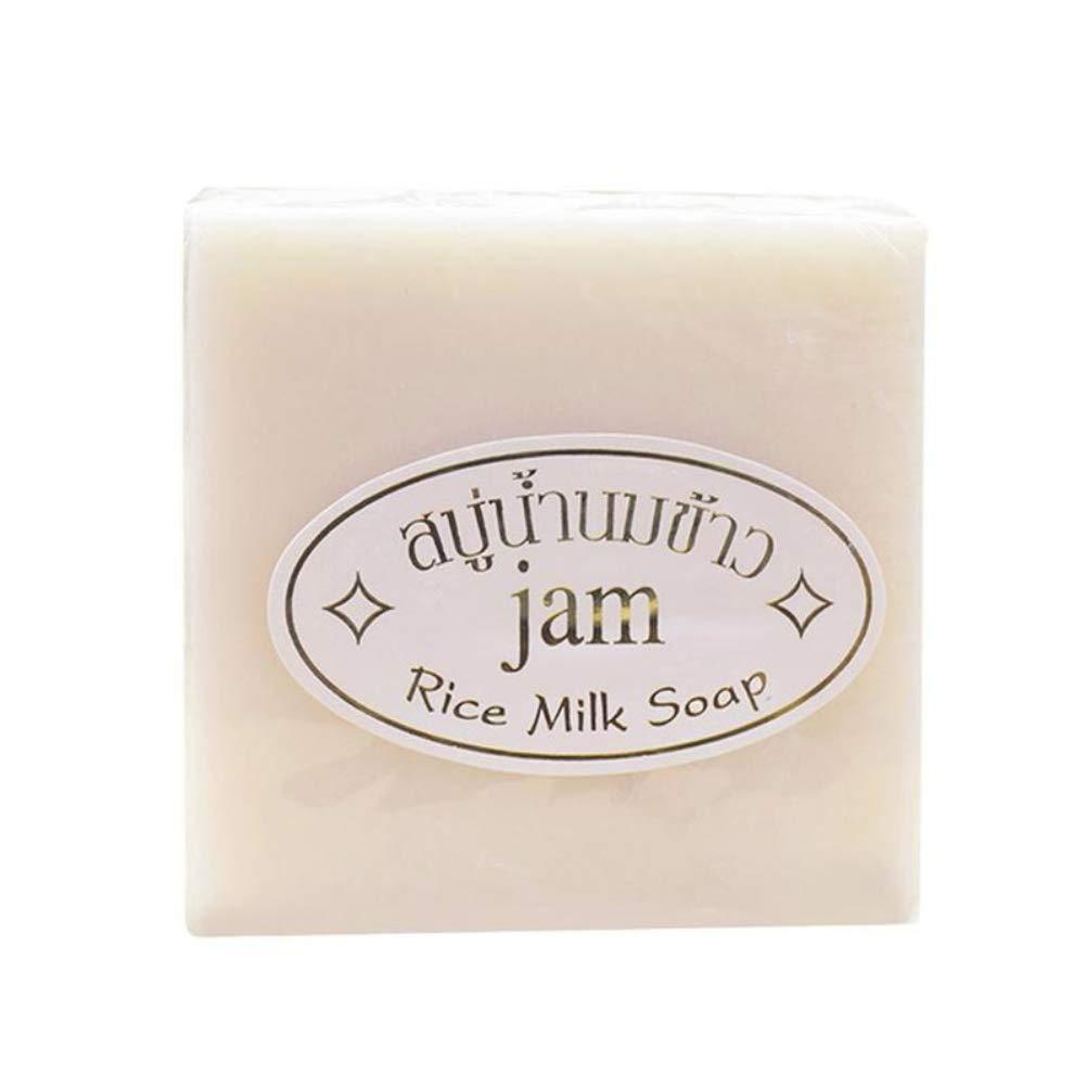 Jabón hecho a mano Yiitay Arroz glutinoso Hidratantes limpiadores Quite las espinillas Anti-ácaros Jabón exfoliante natural para rostro y cuerpo