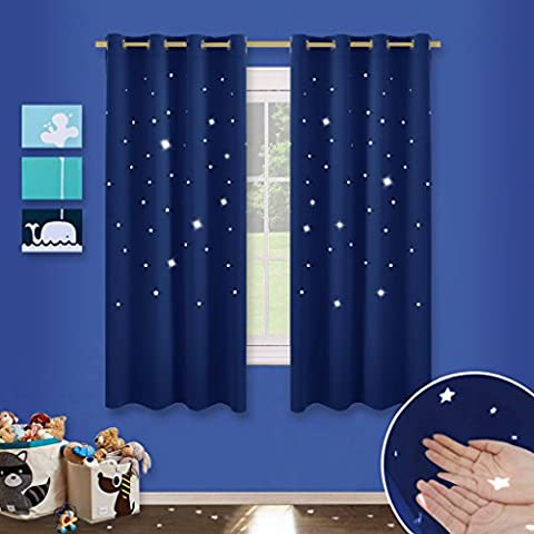 Twinkle Star Cutout Blackout Curtains - PONY DANCE Childishness Top