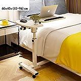 Schreibtische HAIZHEN Nachttisch-Laptop-Rollwagen-Tisch-Neigungsverstellbarer Bett-Nachttisch mit Rädern Klapptisch (Farbe : 1003)