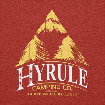 TEXLAB - Hyrule Camping Co - Herren Langarm T-Shirt Rot