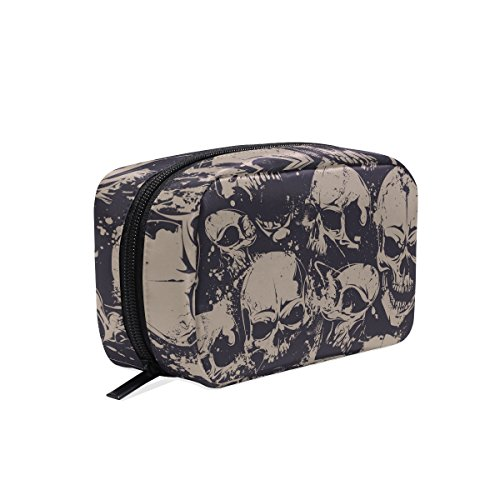 tizorax Vintage Dead Skull Praktische Kosmetik Tasche Kupplung Make-up-Tasche Organizer Reisetasche