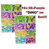 Lg-Imports 16x 3D Puzzles Dinosaurier Dinos Bausatz Urzeit Tiere Mitgebsel Kinder Geburtstag