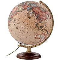 Atmosphere - Globo terráqueo con esfera de madera y metal, iluminada, en castellano,