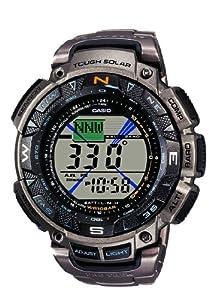 Reloj de caballero CASIO Pro Trek PRG-240T-7ER de cuarzo, correa de titanio color plata de Casio