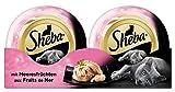 Sheba Katzenfutter Feine Filets für ausgewachsene Katzen - getreidefreies Nassfutter für Katzen / saftige Filets mit Meeresfrüchten / 24 Schalen (24 x 80 g)