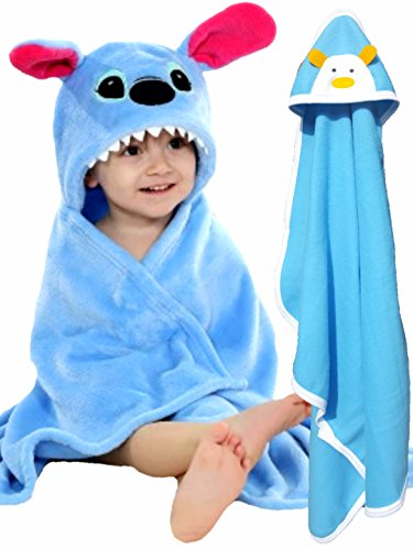 BRANDONN-Newborn-Combo-of-Premium-Hooded-Baby-Blanket-and-Baby-Wrapping-Blanket-for-BabiesPack-of-2