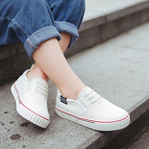 Basses enfant antichoc respirant loisir courant multicolore marche léger inusable casual Blanc