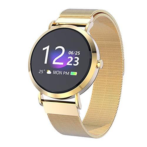 Elospy Multisport Gesundheits Fitness Armband 1.0 Zoll Farbbildschirm Smartwatch mit Herzfrequenzmessung Aktivitäts Erfassung Fitness Tracker wasserdicht IP67, Deutsch unterstützen für Damen
