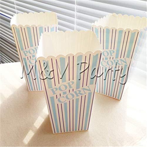 Kreative Cartoon Autos Thema Geburtstag Party Einweggeschirr Set Teller Tasse Napinks Baby Shower Party Supplies Dekorationen, Popcorn Box 6 Stücke (Thema Autos Geburtstag)