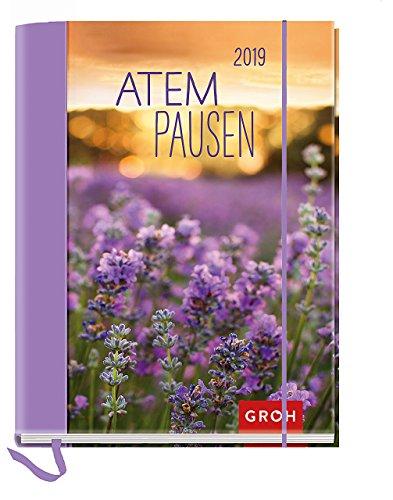 Atempausen 2019: Terminplaner mit Wochenkalendarium | Maße (BxH): 12x15,5cm