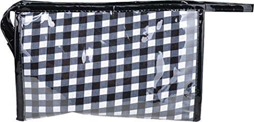 hite GINGHAM 50s Cosmetic Bag - Schwarz Rockabilly (Punk Goth Make Up)