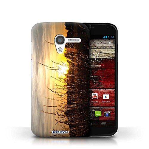 Kobalt® Imprimé Etui / Coque pour Motorola MOTO X / palmiers conception / Série Coucher du Soleil Champs d'orge