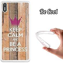 Funda de Gel Silicona TPU Flexible para bq Aquaris X5 BeCool Keep Calm and Be a Princess