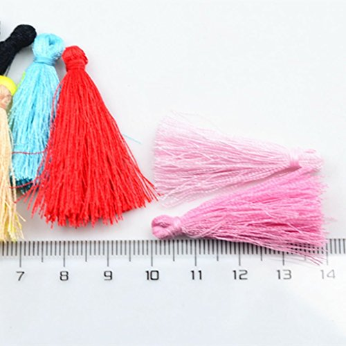 Lovely Arts Collection Silk Thread Tassel Earrings for Women (Multicolour) - Set of 50