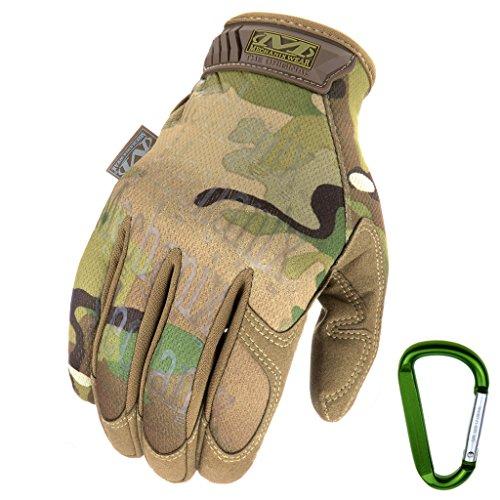 Mechanix Handschuhe The Original Glove verschiedene Farben (S, Multicam + Karabiner)