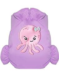 Eliott Et Loup Octopus Maillot de bain couche à Scratch ajustable Enfant 0-3 ans Parme Taille Unique Séchage Rapide