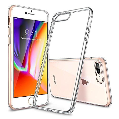 iPhone 7 Plus Hülle (5,5 Zoll), ESR® Twinkler Series [0.8mm Dünne] Weiche Silikon Hülle Transparent TPU Zurück mit Überzug Farbig Rahmen Schutzhülle für iPhone 7 Plus (Champagner Gold) Klar