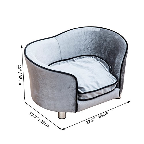 PawHut-Pet-Sofa-Indoor-Dog-Cat-Puppy-Kitten-Mat-Cushion-Bed-Couch-Chair-House