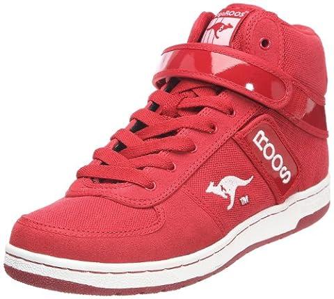 KangaROOS Skywalker-III, Herren Hohe Sneakers, Rot (red/wht-silver 601), 42 EU