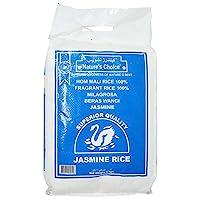 ارز الياسمين التايلاندي بوزن 5 كغم، ابيض من ناتشرز تشويس