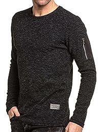 Celebry tees - Pullover homme noir avec poche zippée