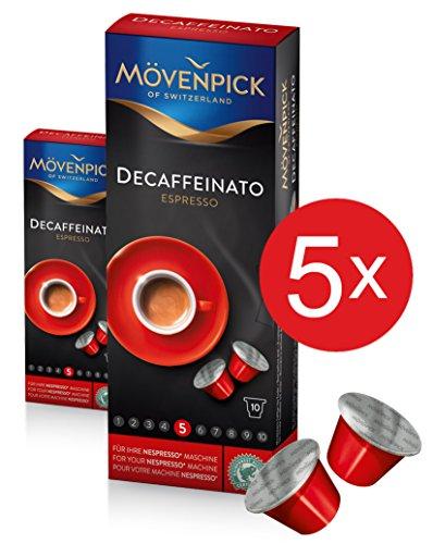 MÖVENPICK DECAFFEINATO Kaffeekapseln 5 x 10 Kapseln Sparset