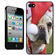 Fancy A Snuggle Schutzhülle für Apple iPhone 4 / 4S - Motiv Hund im Weihnachtskostüm