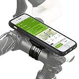 Fahrradhalterung für Apple iPhone 6S Plus / 6 Plus (5,5 Zoll) Bike Kit mit Case und Regen Hülle (Ladekabel- und Kopfhörer Anschluss, Touch Unterstützung) QuickMOUNT 3.0 Fahrrad Halterung schwarz