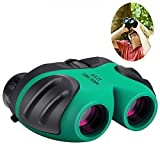 #9: Gifts for 3-12 Years Old Boys, Best- Sun Compact 8x21 Shock Proof Binoculars for Bird Watching Kids Telescope for Teens Toys for 3-12 Years Old Boys (Green)