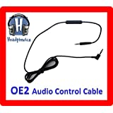 Audio Control Cable For Bose OE2 Headphones with In-Line Remote & Microphone [by Headphonics]